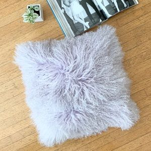 Pillow Decor LTD Lilac Mongolian Lamb Fur Case